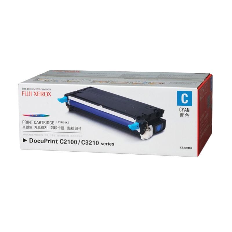 Fuji Xerox CT350486 Toner for Printer Docuprint C2100-C3210DX - Cyan [6000 Halaman]
