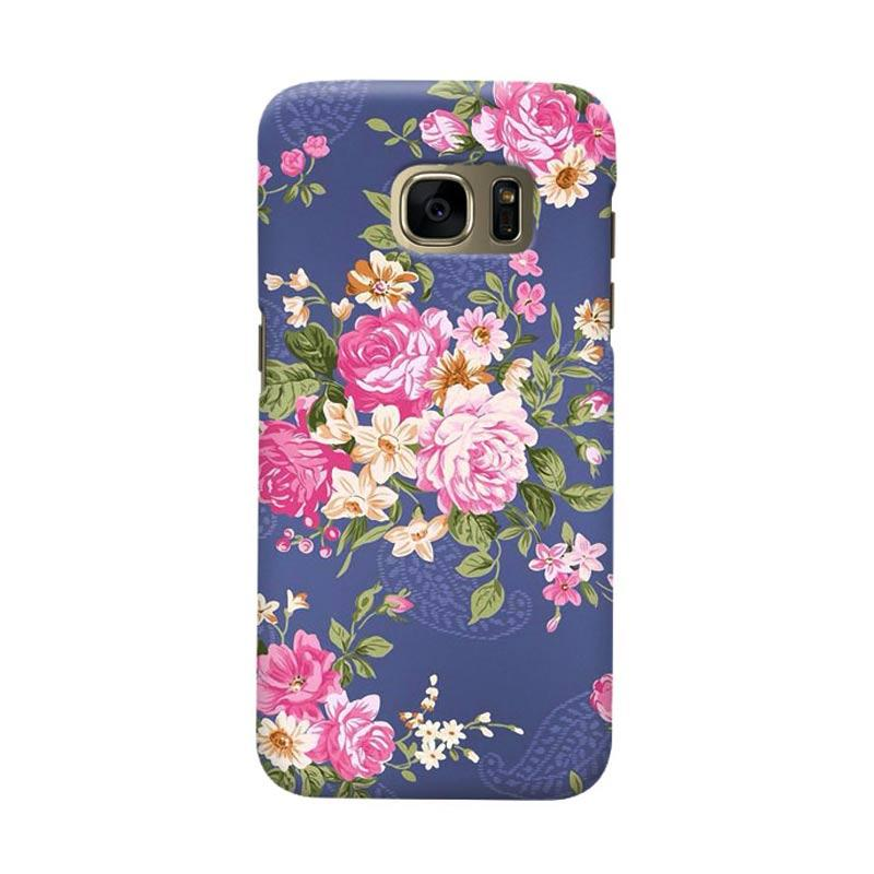 Indocustomcase Rose Blue Cover Casing for Samsung Galaxy S6