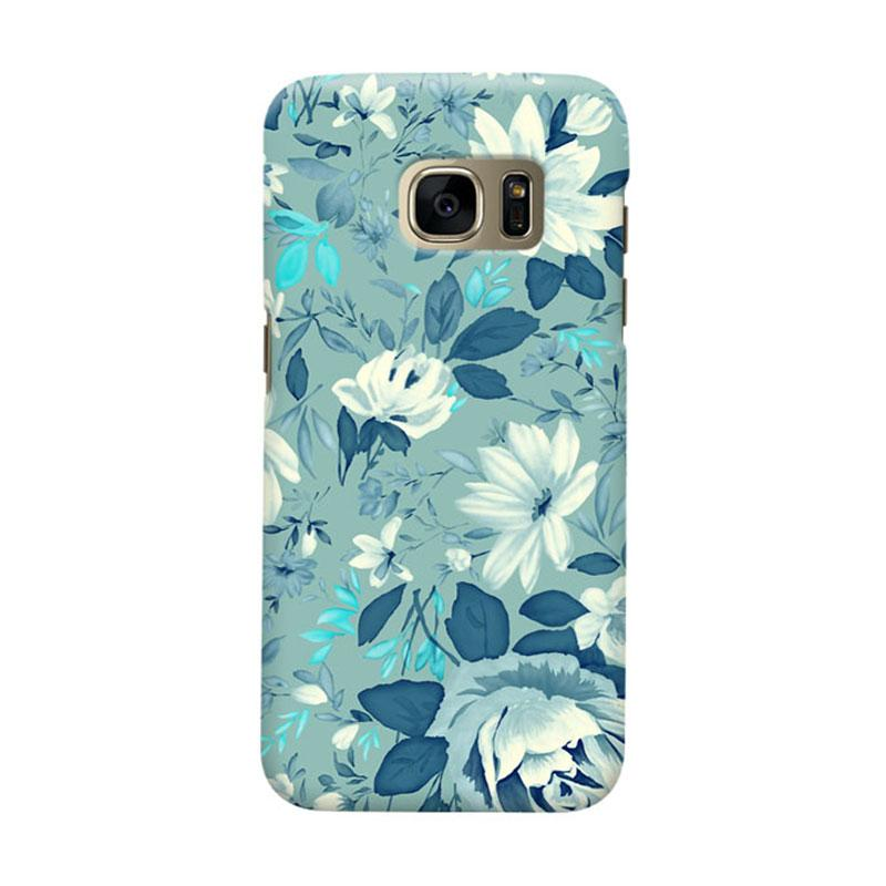 Indocustomcase Flower Julia 2 Cover Casing for Samsung Galaxy S7
