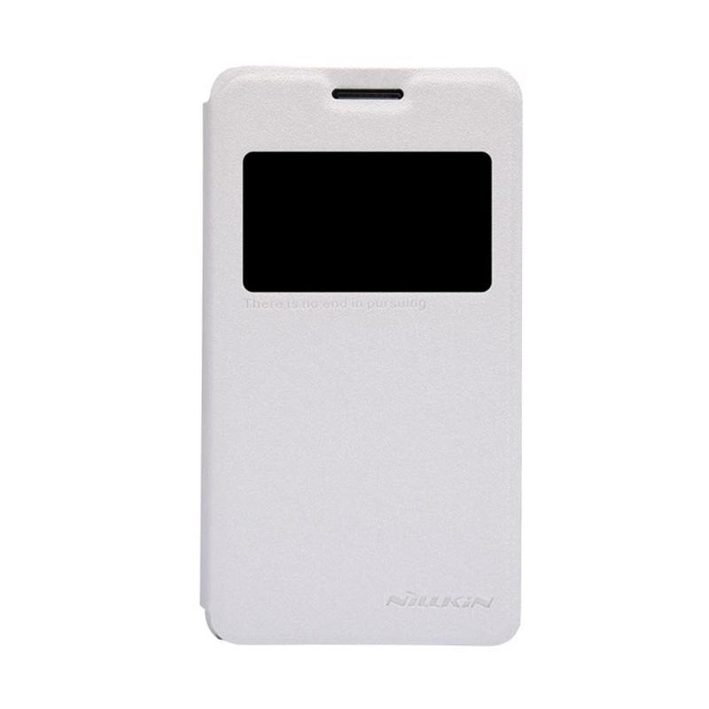 Nillkin Sparkle Leathercase Flip Cover Original Casing for Sony Xperia E1 - White