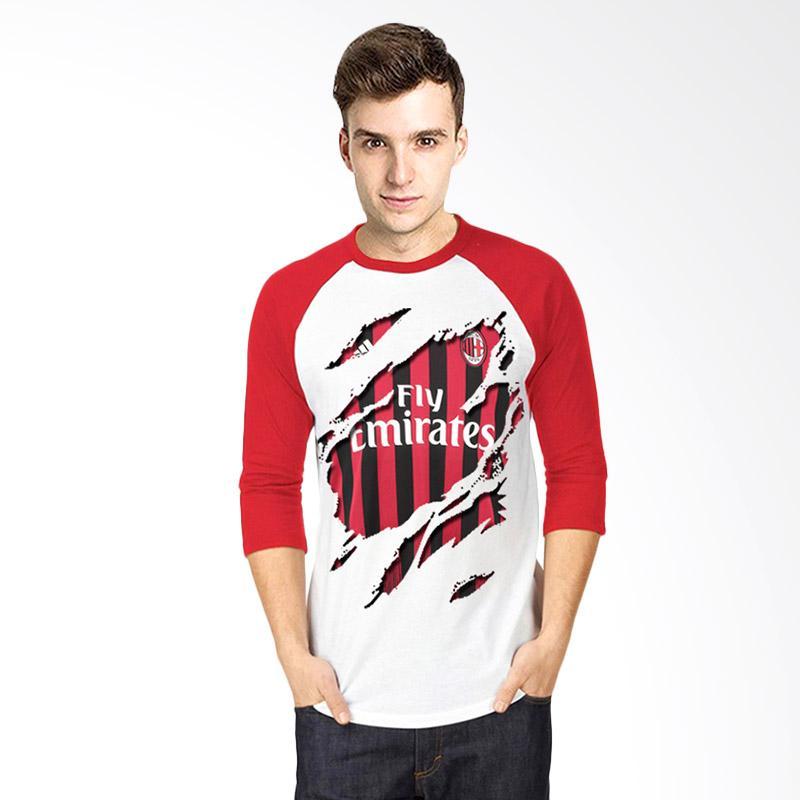 T-Shirt Glory Kaos 3D Ac Milan Jersey Raglan Atasan Pria - Putih Merah Extra diskon 7% setiap hari Extra diskon 5% setiap hari Citibank – lebih hemat 10%
