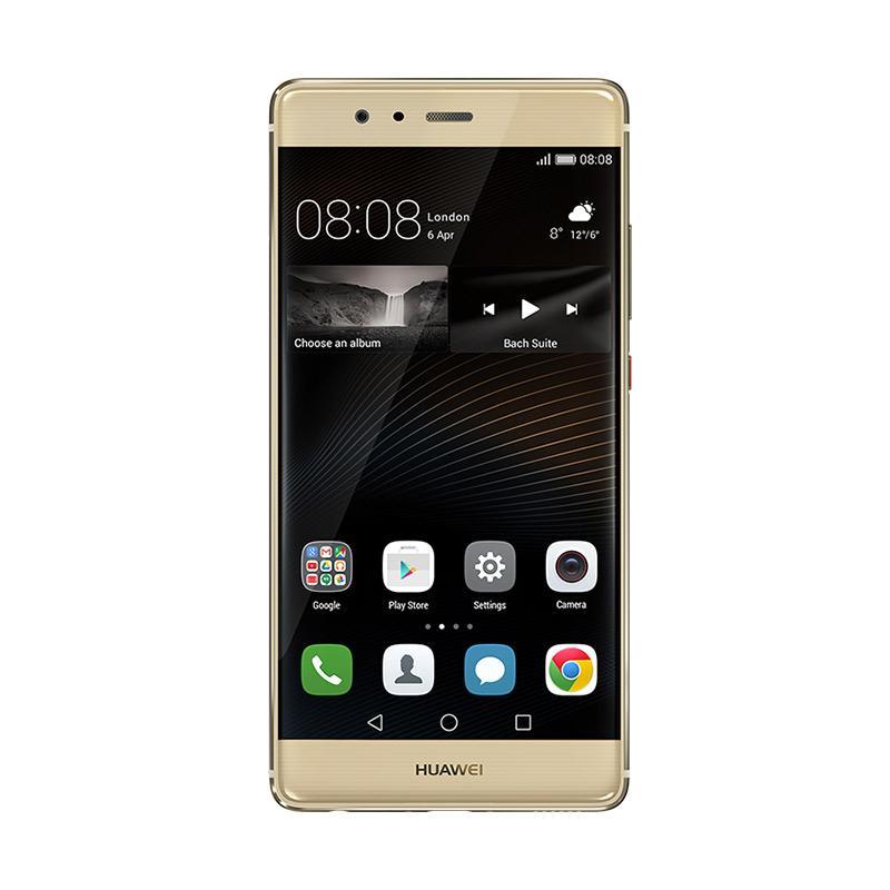 harga Huawei P9 Leica Smartphone - Gold [32 GB/ 3 GB/ LTE] + Free Voucher MAP 1 juta + HOOQ Voucher Blibli.com