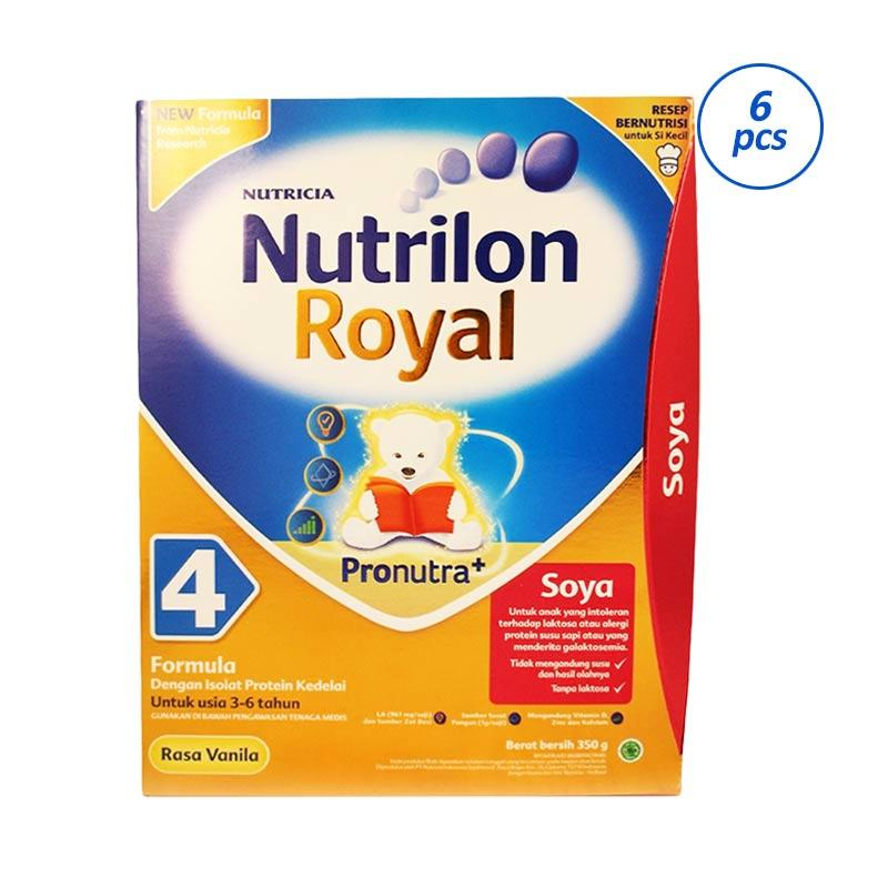 Nutrilon Royal 4 Soya Vanila Susu Formula Anti Alergi [350 g x 6 pieces