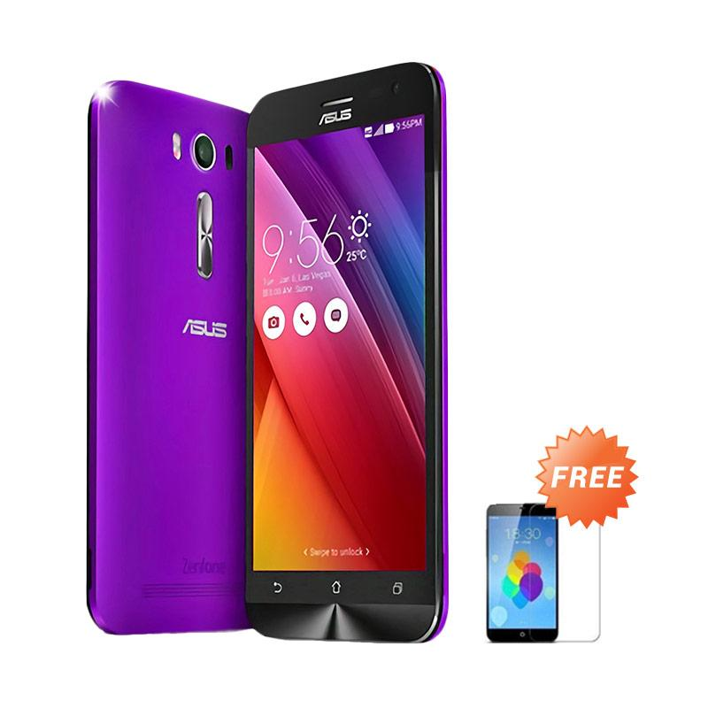 Ultrathin Aircase Casing for Asus Zenfone 2 ZE500KL - Purple Clear + Free Tempered Glass