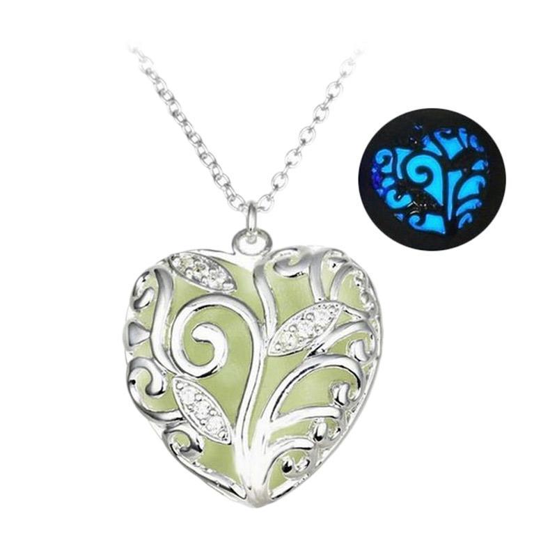 harga Anneui KK0235 Kalung Fosfor Menyala Dalam Gelap Mermaid Voice Necklace - Silver Blue Blibli.com