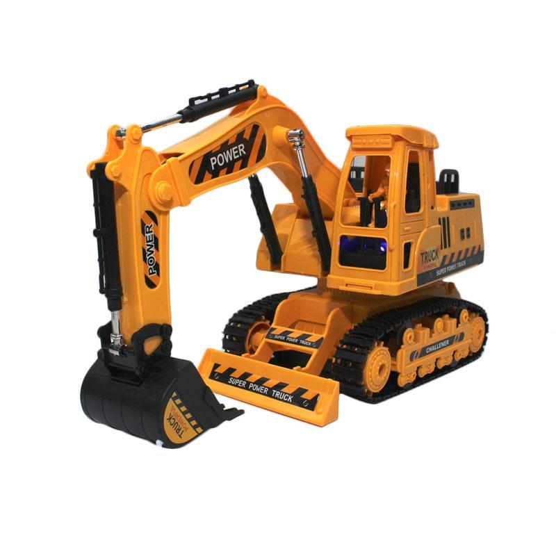 harga H&Y Super Excavator Workbench 690 Degree Revolve Mainan Remote Control - Kuning Blibli.com
