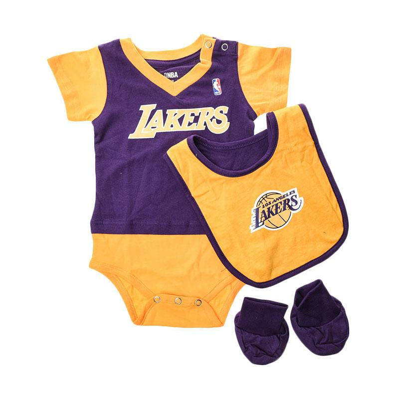 NBA Outerstuff 22OIM Los Angeles Lakers Kuning Jumpsuit Anak