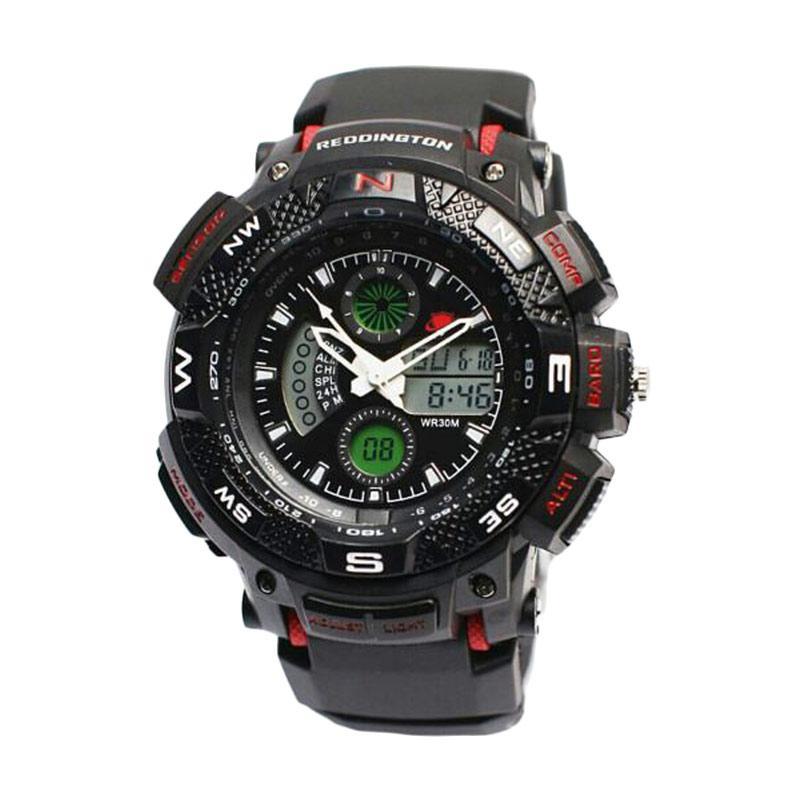Reddington Sporty D47H110RD1310MHTMM Rubber Strap Dualtime Jam Tangan Pria
