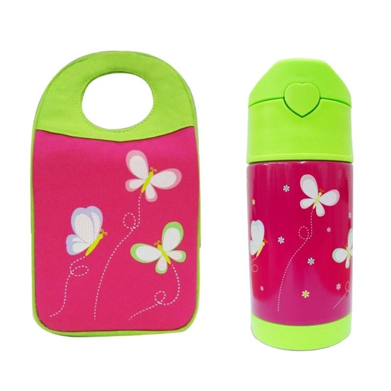 Arvita Butterfly Lunch Bag + Free Arvita Water Butterfly Thermos Bottle