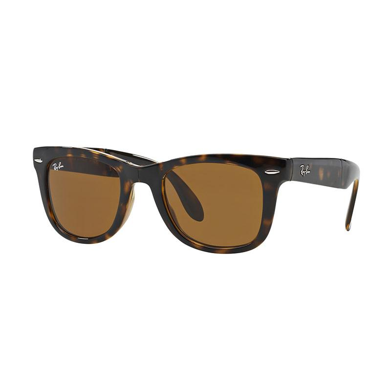 Ray-Ban Folding Wayfarer RB4105 Crystal Brown 710 Sunglasses  - Light Havana [Size 54]