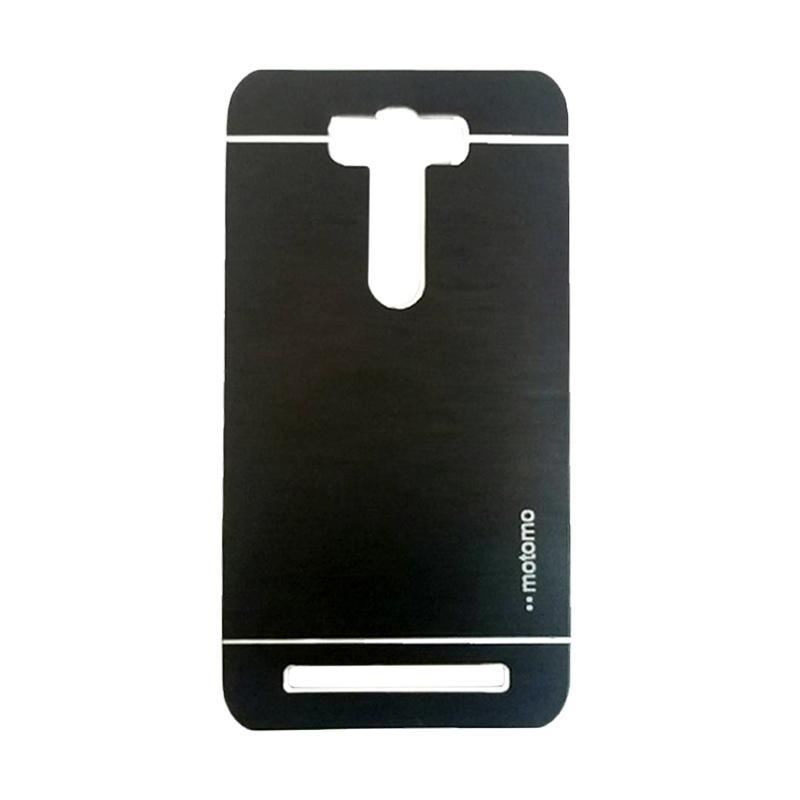 Motomo Metal Backcase Hardcase Casing for Asus Zenfone 2 Laser ZE500KL 5.0 Inch - Black