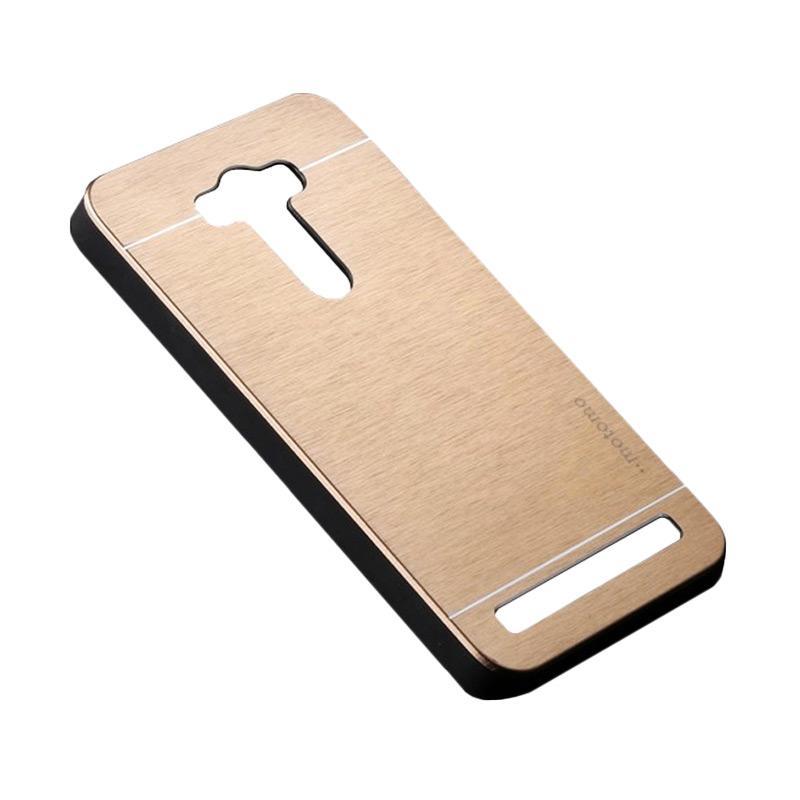 Motomo Metal Backcase Hardcase Casing for Asus Zenfone 2 Laser ZE500KL 5.0 Inch - Gold