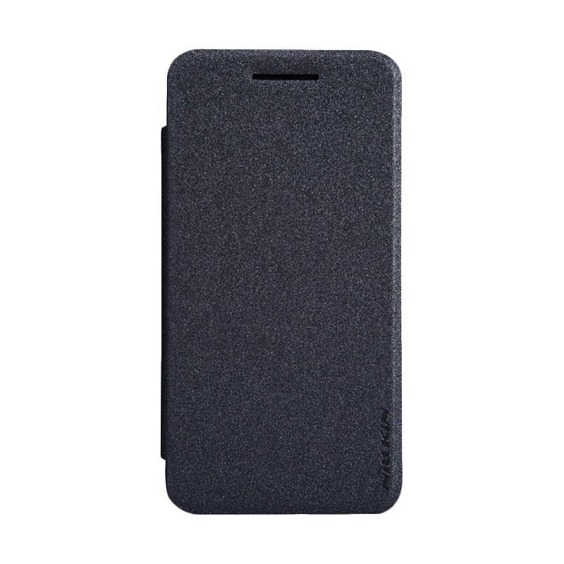 Nillkin Original Sparkle Leather Flip Cover Casing for Asus Zenfone 4 - Black
