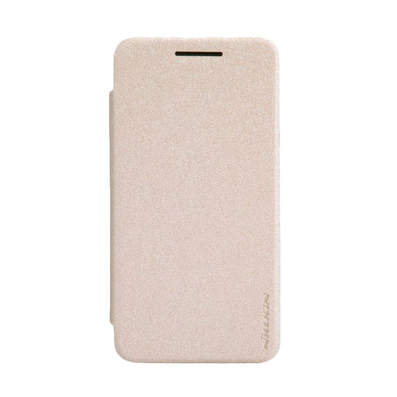Nillkin Original Sparkle Leather Flip Cover Casing for Asus Zenfone 4 - Gold