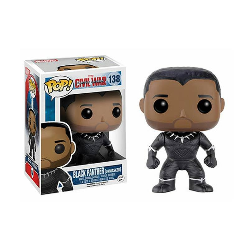 harga Funko POP! Heroes 7719 Captain America Civil War Black Panther Unmasked Vinyl Figure Blibli.com