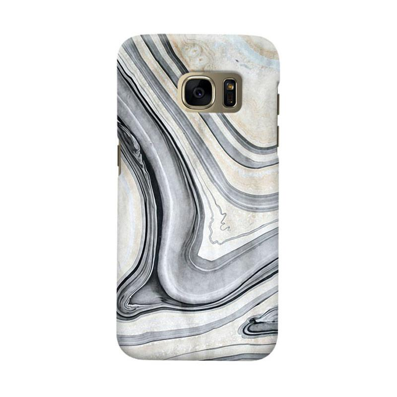 Indocustomcase Real Marble Cover Casing for Samsung Galaxy S6