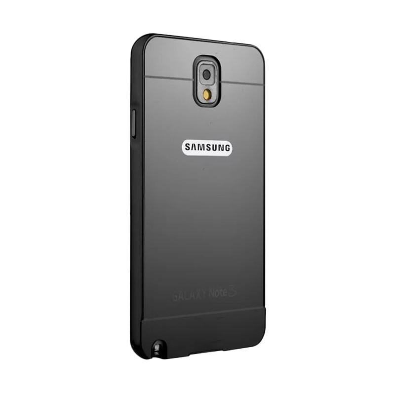 harga Case Bumper Chrome With Backcase Mirror Casing for Samsung Galaxy Note 3 - Black Blibli.com