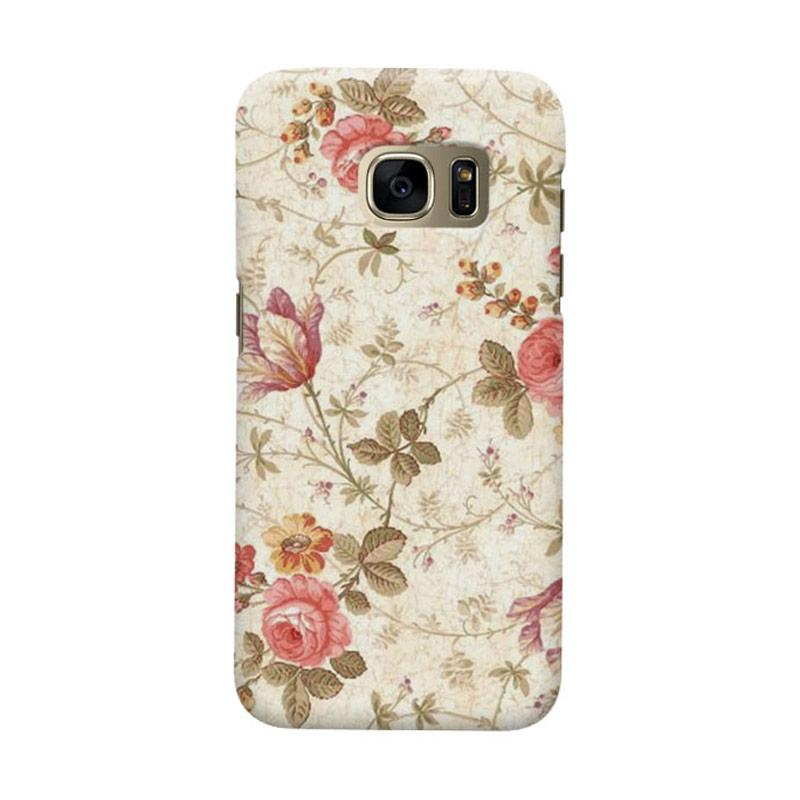 Indocustomcase Roses Casing for Samsung Galaxy S6 Edge