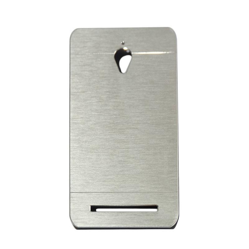 Motomo Metal Hardcase Backcase Casing for Asus Zenfone Go ZC500TG 5.0 Inch - Silver