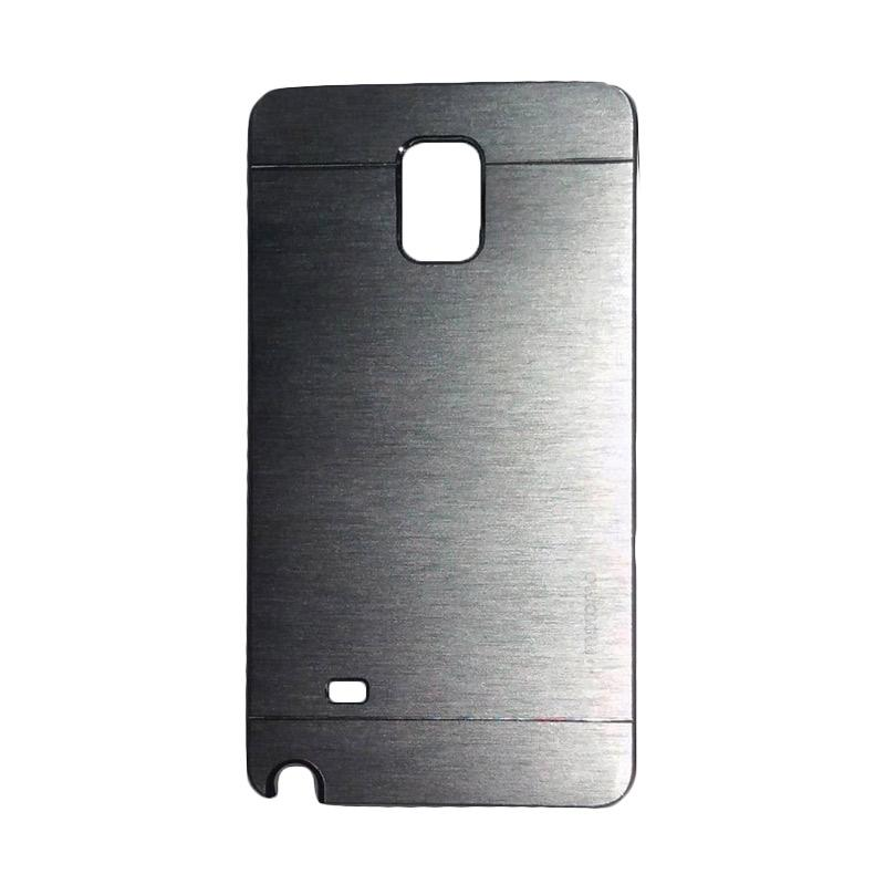 Motomo Metal Hardcase Backcase Casing for Samsung Galaxy Note 4 or N910 - Silver