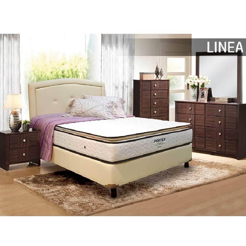 Porter Mattress Linea Semi Pillow Top Bonnel Spring Kasur Springbed