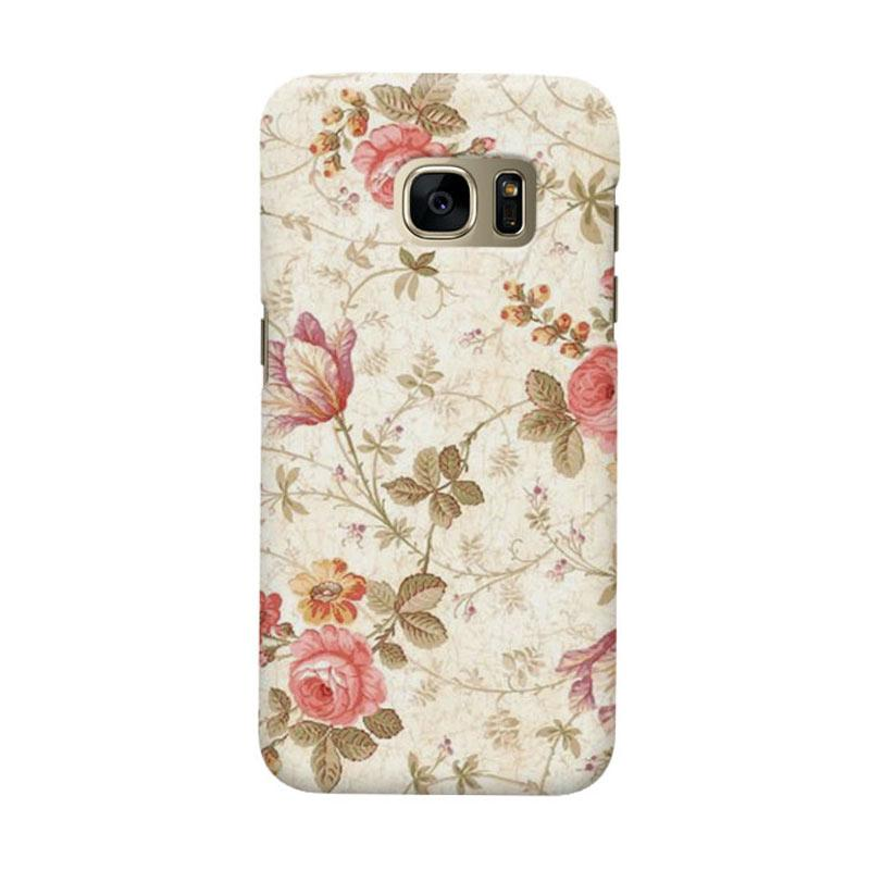 Indocustomcase Roses Cover Casing for Samsung Galaxy S7 Edge