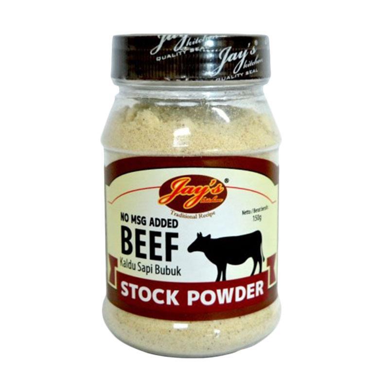 harga Daily Deals - Jay's Kitchen Beef Stock Powder Kaldu Sapi Bubuk Non MSG Bumbu Perasa [150 g] Blibli.com