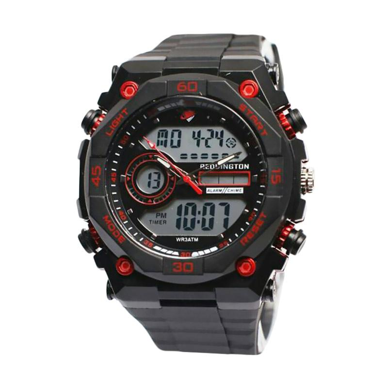 Reddington Sporty D47H110RD2812MHTMM Dualtime Rubber Strap Jam Tangan Pria