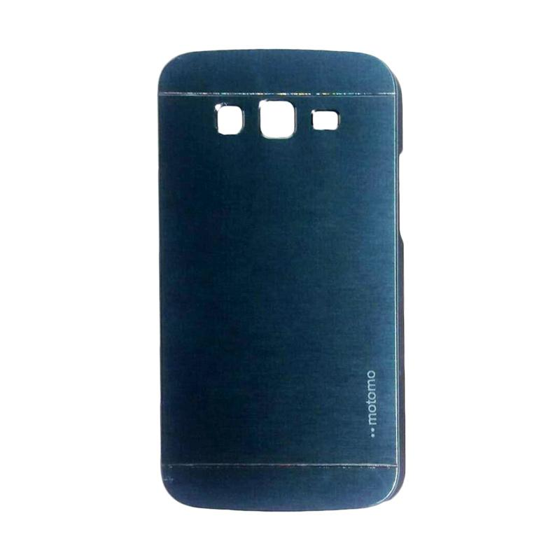 Motomo Metal Hardcase Backcase Casing for Samsung Galaxy Grand 2 or G7106 - Dark Blue