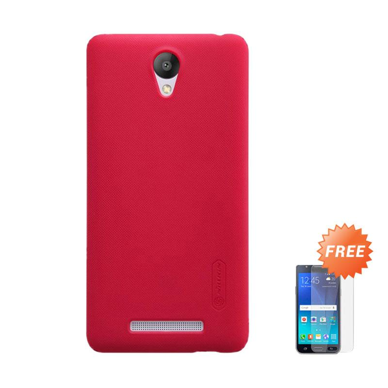 harga Nillkin Case for Xiaomi Redmi Note 2 Super Frosted Shield - Rose + Free Tempered Glass Blibli.com