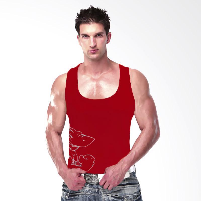 harga Onemore Apparel Yukensi Gym Shark Vector Singlet Olahraga - Merah Blibli.com