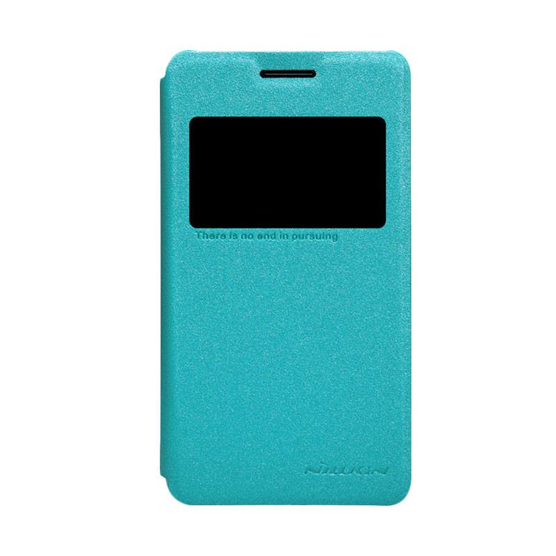 Nillkin Original Sparkle Leather Flip Cover Casing for SONY Xperia E1 - Blue