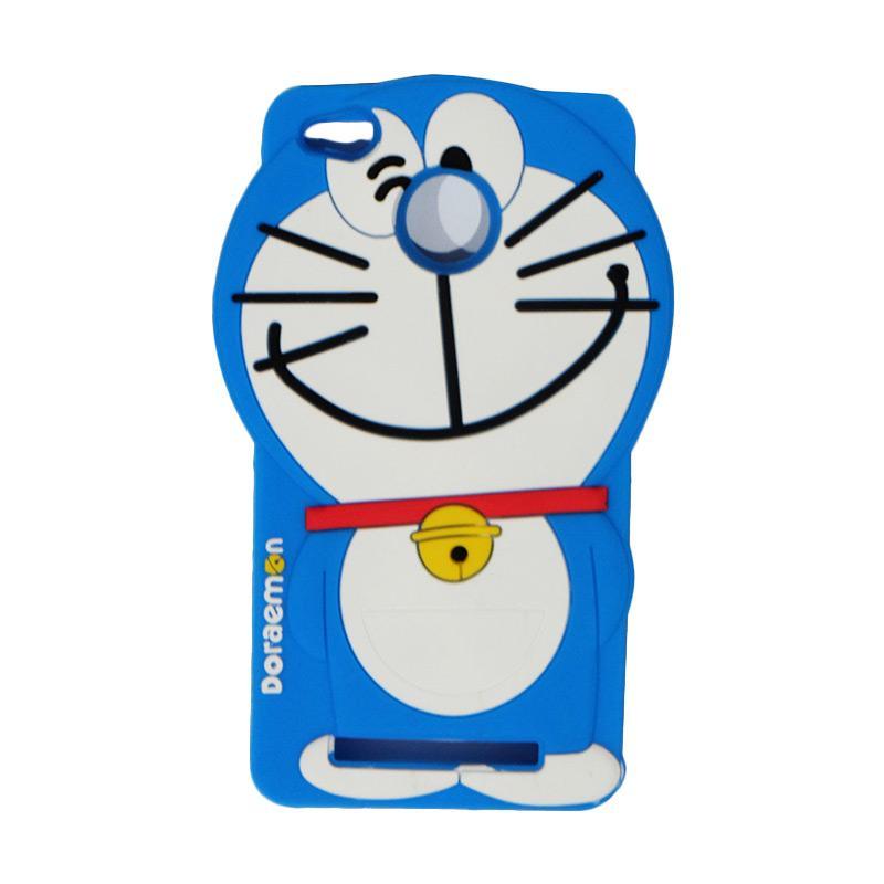VR Karakter 3D Doraemon Edition Silicone Softcase Casing for Xiaomi Redmi 3X - Blue