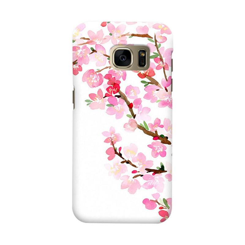 Indocustomcase Sakura Cover Casing for Samsung Galaxy S7 Edge