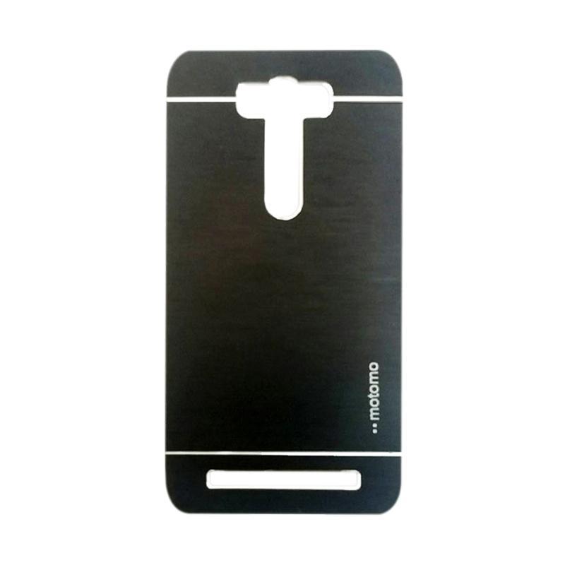 Motomo Metal Backcase Hardcase Casing for Asus Zenfone 2 Laser ZE550KL 5.5 Inch - Black