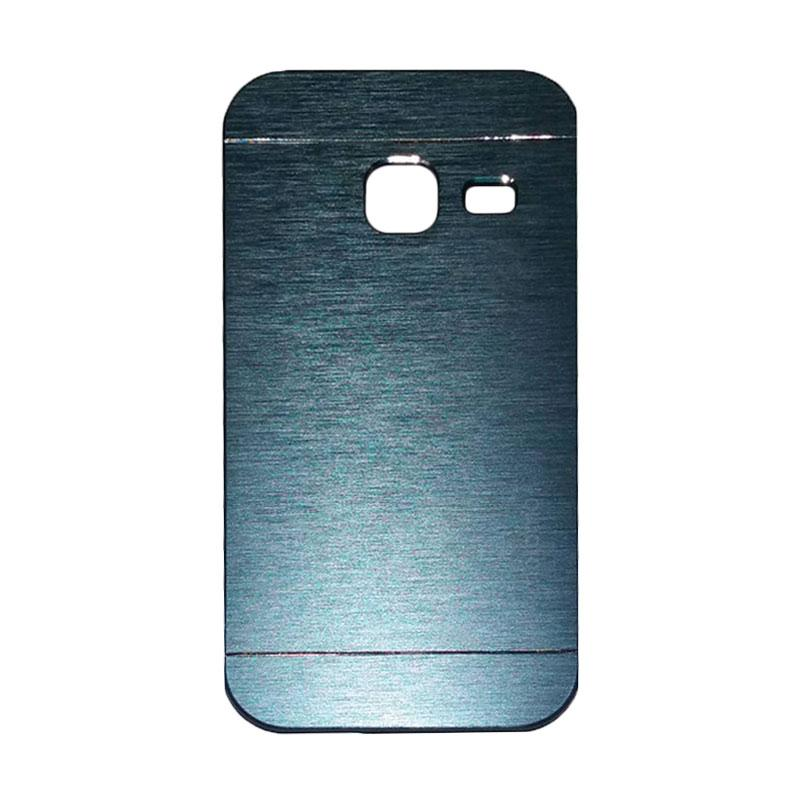 Motomo Metal Hardcase Backcase Casing for Samsung Galaxy J1 Mini or J103 - Dark Blue