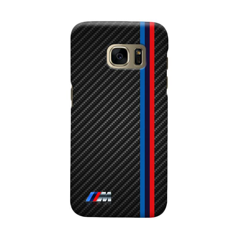 Indocustomcase Carbon Stripe Cover Casing for Samsung Galaxy S7