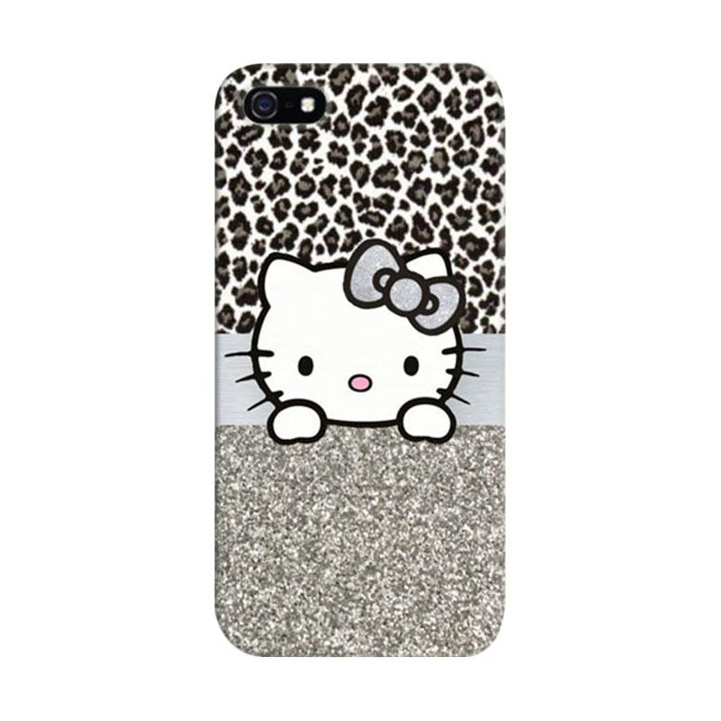 Indocustomcase Hello Kitty 01 Cover Hardcase Casing for iPhone 5/5S/SE