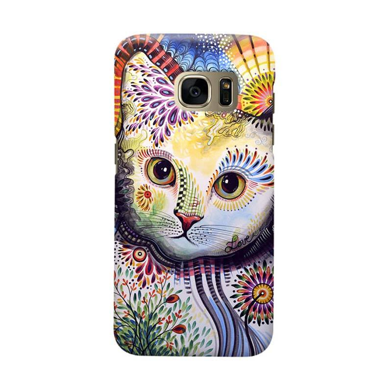 Indocustomcase Beautifull Cat Cover Casing for Samsung Galaxy S6