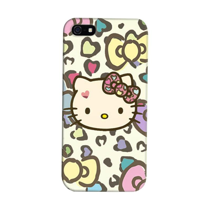 Indocustomcase Hello Kitty 02 Cover Hardcase Casing for iPhone 5/5S/SE