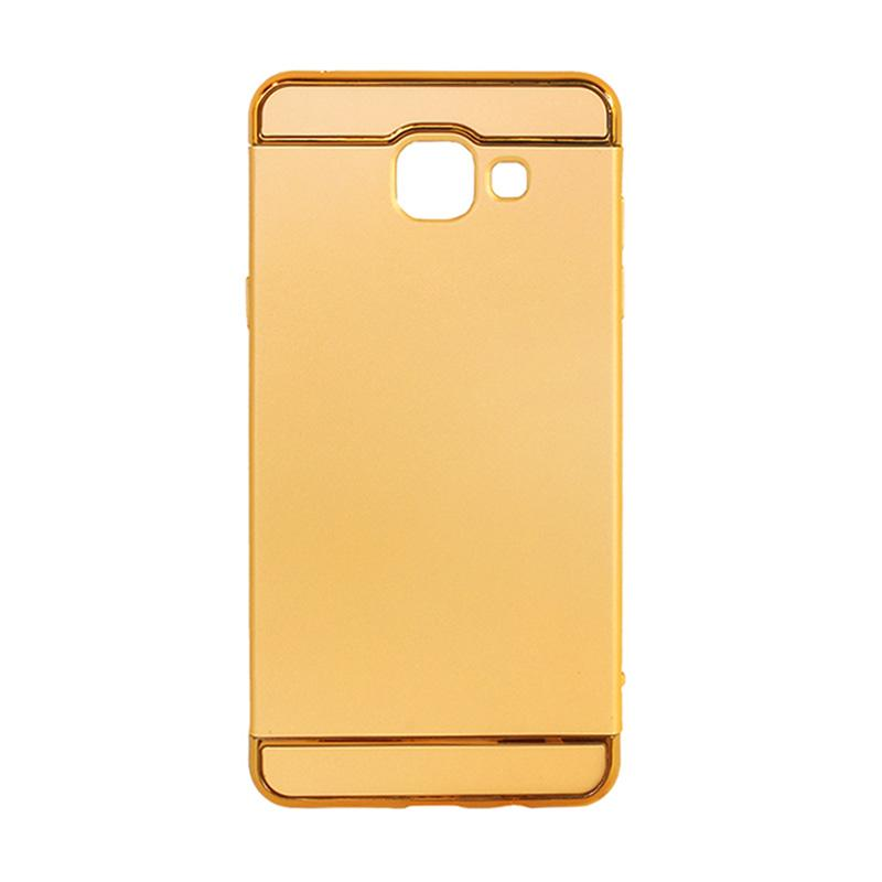 OEM 3in1 Plated PC Frame Bumper with Frosted Hard Backcase Casing for Samsung A5 2016 A510 - Gold