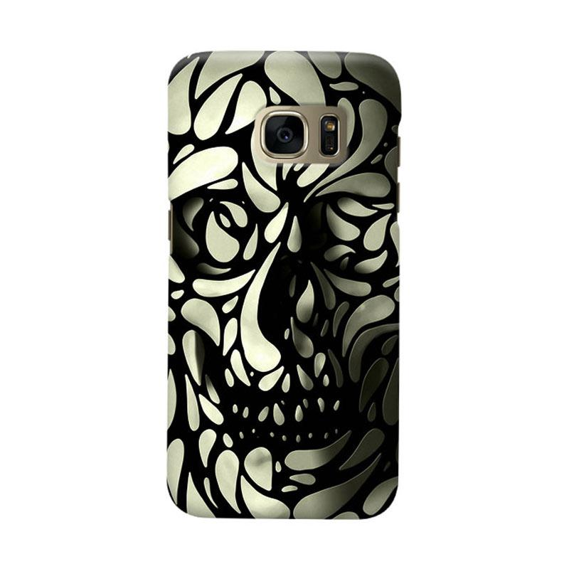 Indocustomcase Skull Art Cover Casing for Samsung Galaxy S6