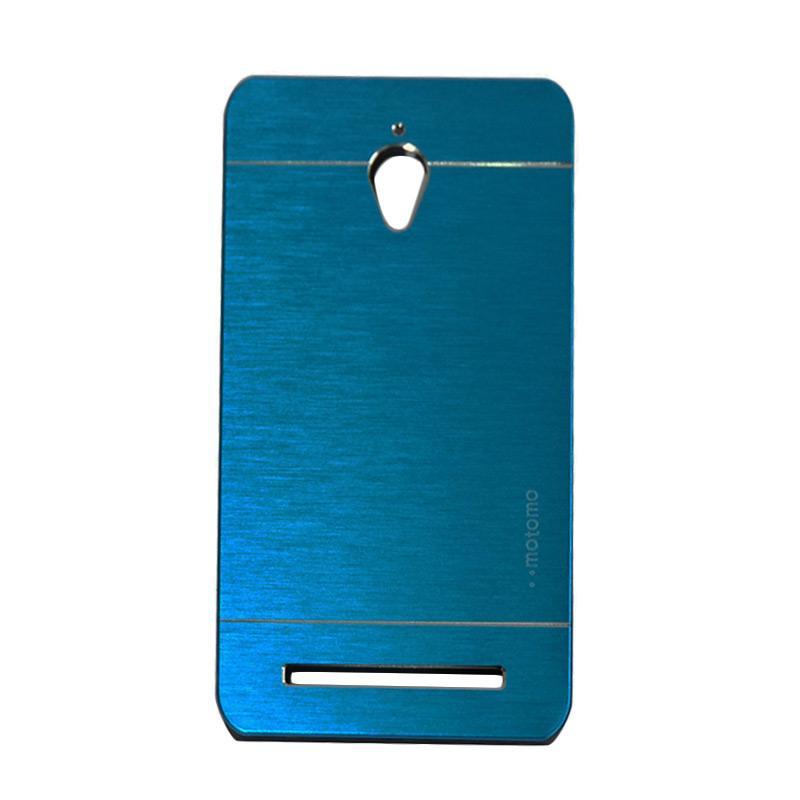 Motomo Metal Hardcase Backcase Casing for Asus Zenfone Go ZC500TG 5.0 Inch - Dark Blue