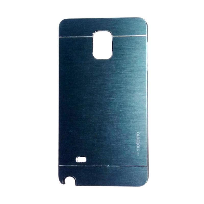 Motomo Metal Hardcase Backcase Casing for Samsung Galaxy Note 4 or N910 - Dark Blue