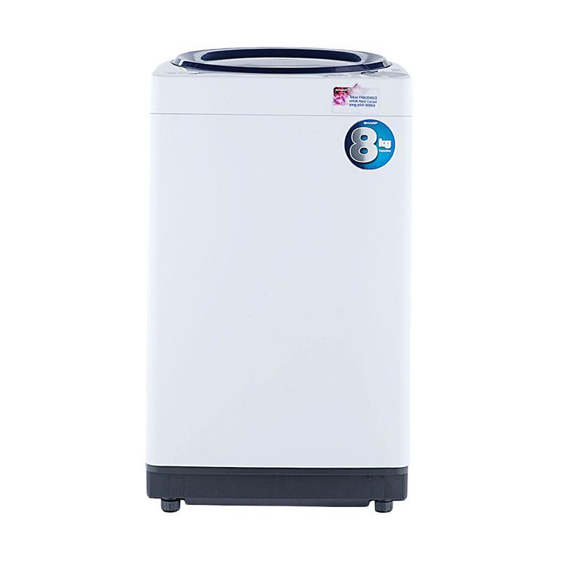 SHARP Mesin Cuci - Biru [8 kg/Top Loading Full Auto/Anti Bacterial/Dual Pulsator]