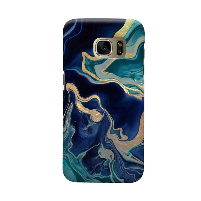 Indocustomcase Marble Drama Casing Case Cover For Samsung Galaxy S6