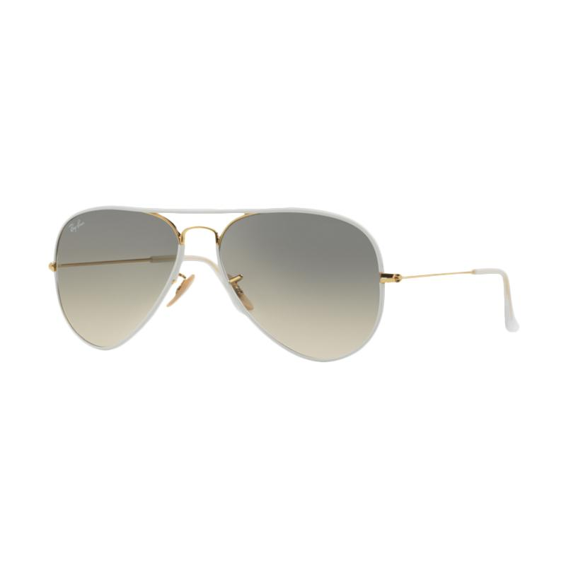 Ray-Ban Aviator Full Color RB3025Jm-146-32 Grey Gradient Sunglass - Shiny Gold [Size 58]