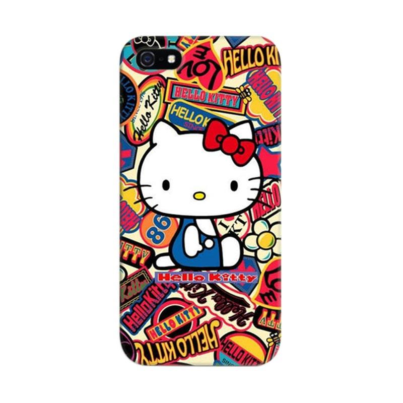 Indocustomcase Hello Kitty 05 Cover Hardcase Casing for iPhone 5/5S/SE