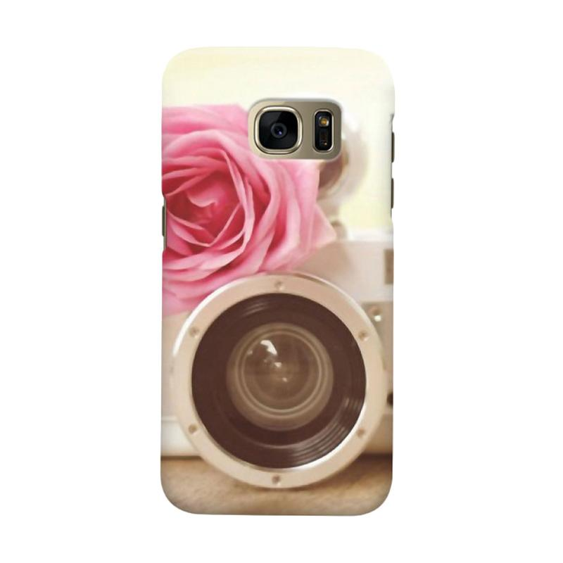 Indocustomcase Rose Camera Cover Casing for Samsung Galaxy S6