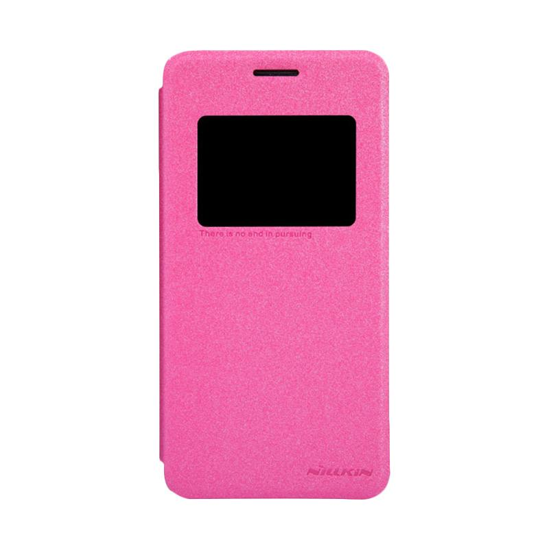 Nillkin Original Sparkle Leather Flip Cover Casing for Asus Zenfone 5 - Pink